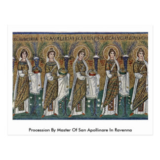 Cortège par le maître de San Apollinare à Ravenne Carte Postale