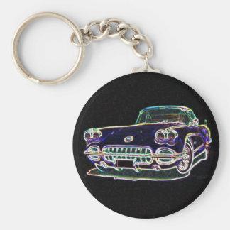 Corvette 1958 porte-clef