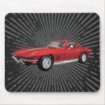 Corvette 1967 : Voiture de sport : Finition rouge  Tapis De Souris