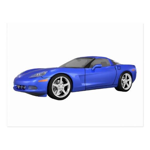 Corvette 2008 : Voiture de sport : Finition bleue  Carte Postale