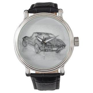corvette, corvette, classique, voiture classique, montres bracelet