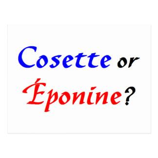 Cosette Les Miserables Carte Postale