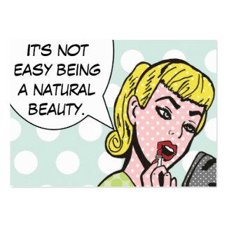 Cosmetologist de beauté/cartes naturels de carte de visite grand format