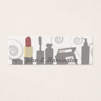 Cosmetologist féminin de remous moderne de mini carte de visite