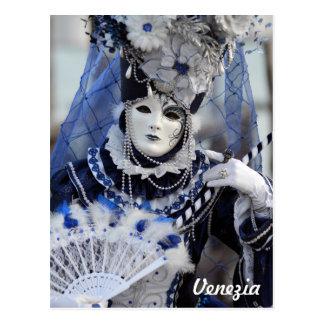 Costume bleu cartes postales