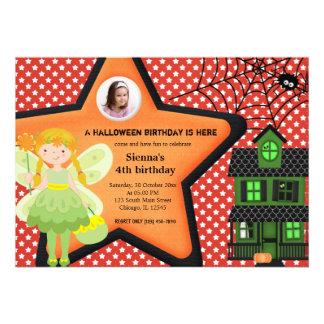 Costume d'anniversaire de Halloween (rouge) Invitation Personnalisable