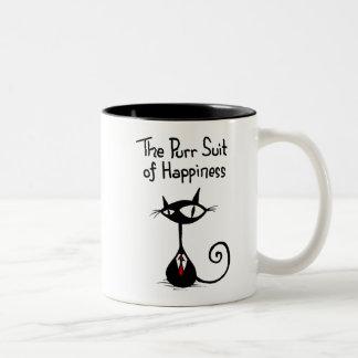 Costume de ronronnement de tasse de bonheur