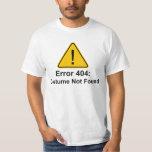 Costume des erreurs 404 Halloween non trouvé T-shirts