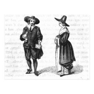 Costume des pèlerins carte postale