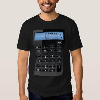 Costume drôle de calculatrice de geek t-shirt