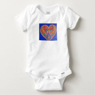 Costume vibrant de bébé de coeur t-shirt