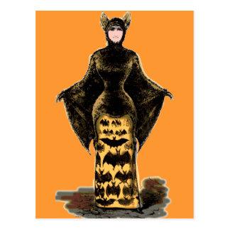 Costume vintage de batte cartes postales