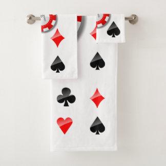 Costumes de cartes de jeu et jetons de poker