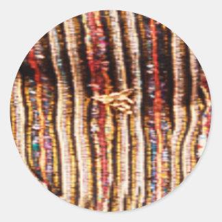 Costumes de NOVINO - motifs enchanteurs de tissu Sticker Rond