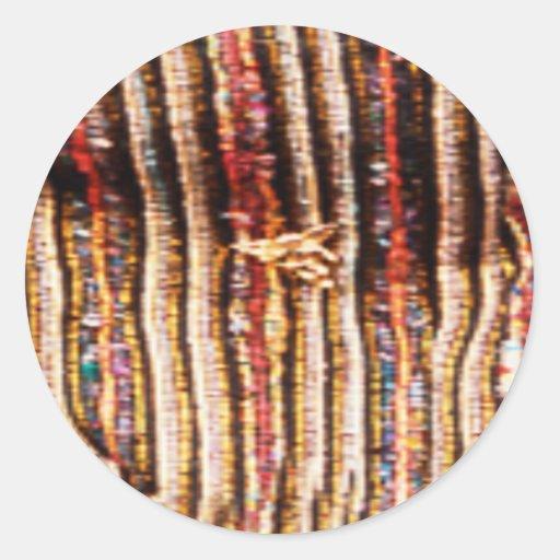 Costumes de NOVINO - motifs enchanteurs de tissu Autocollant Rond