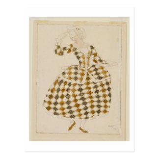 Costumez la conception pour Columbine, de beauté Carte Postale