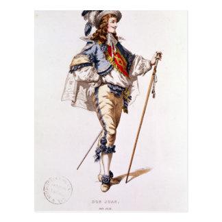 """Costumez la conception pour """"Don Juan"""" par Moliere Carte Postale"""