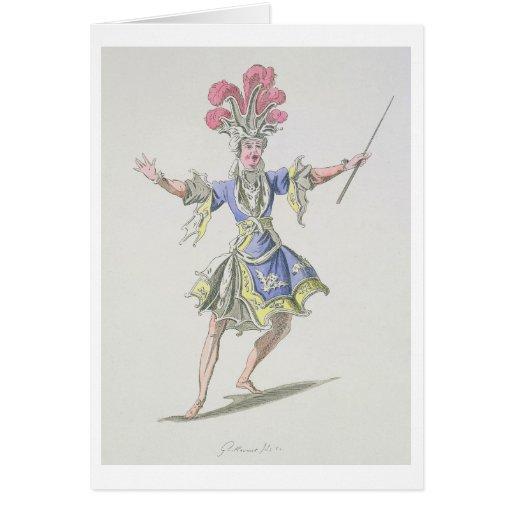 Costumez la conception pour le magicien, dans Dard Cartes De Vœux