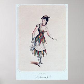 Costumez la conception pour un harlequin féminin,  posters