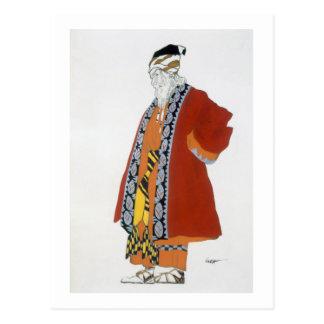 Costumez la conception pour un vieil homme dans un carte postale