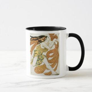 Costumez la conception pour une bacchante dans mug