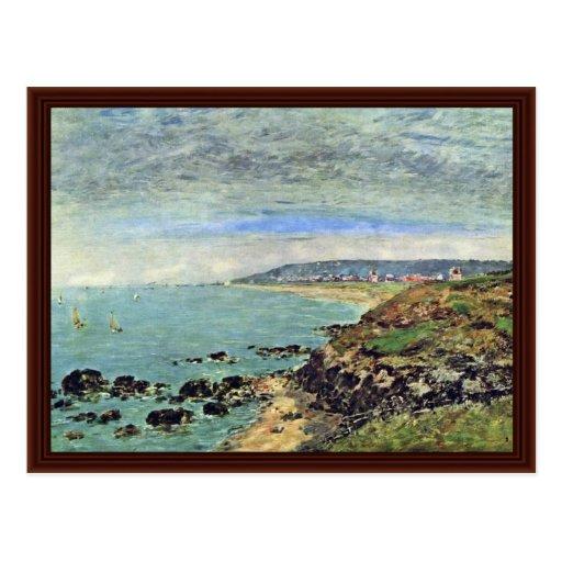 Côte atlantique chez Bénerville par Boudin Eugène Carte Postale