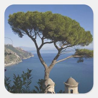 Côte d'Amalfi, Ravello, Campanie, Italie Sticker Carré
