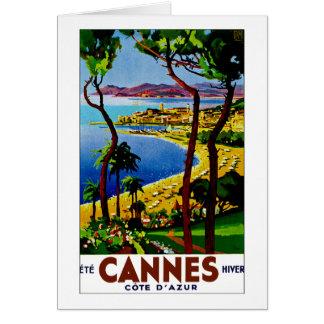 ~ Cote d'Azur de Cannes Carte De Vœux
