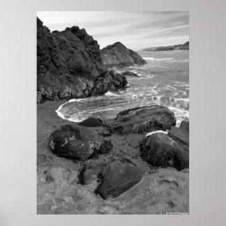 Côte de l Orégon - les eaux rocheuses Affiches