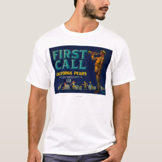 Côte de LabelContra de caisse de poire de premier T-shirt