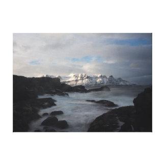 Côte de l'Islande sur la toile