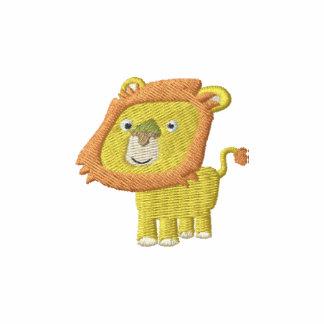 Côté droit mignon de lion de bande dessinée sweat avec capuche brodé
