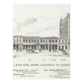 Côté est avant la Californie et Sacramento Carte Postale