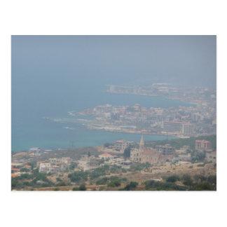 Côte libanaise carte postale