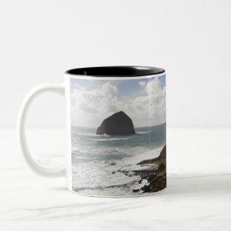 Côte Pacifique rocheuse de l'Orégon dans la ville Tasse 2 Couleurs