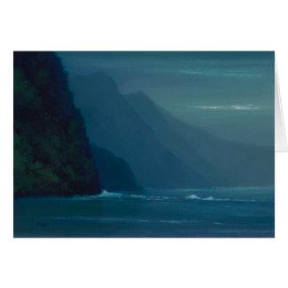 Côte paisible de Na'Pali - carte de note