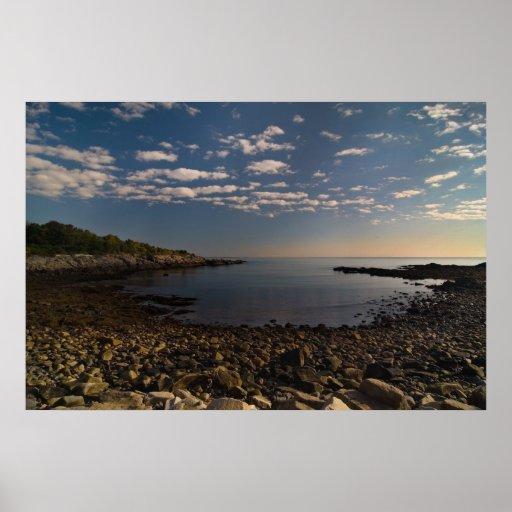 Côte rocheuse de copie du Maine Affiche