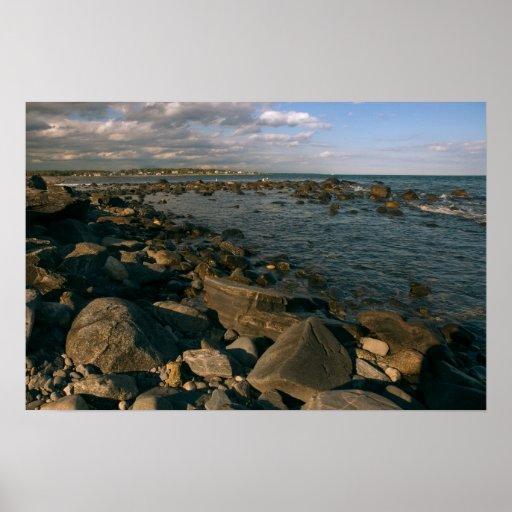 Côte rocheuse de copie du Maine Affiches