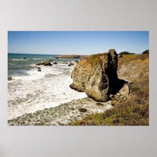 Côte rocheuse de la Californie Affiches
