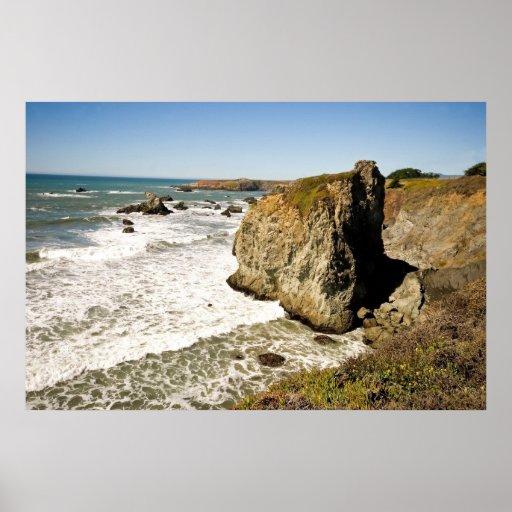 Côte rocheuse de la Californie Poster