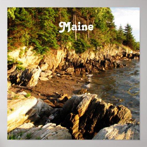 Côte rocheuse du Maine Posters