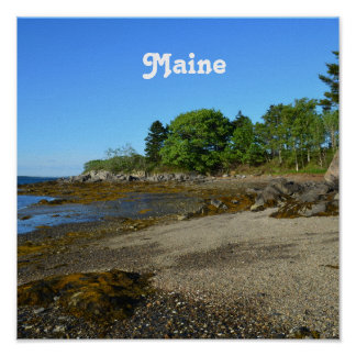 Côte rocheuse du Maine Poster