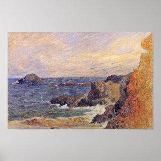 Côte rocheuse par Paul Gauguin (la meilleure Poster