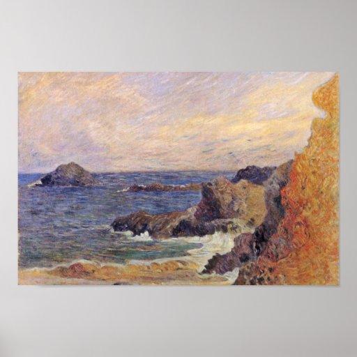 Côte rocheuse par Paul Gauguin (la meilleure quali Poster