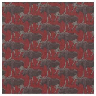 Coton de tissu de faune de tissu d'art d'orignaux