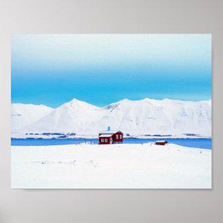 Cottage de l'Islande Posters