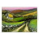Cottage de route de campagne cartes de vœux