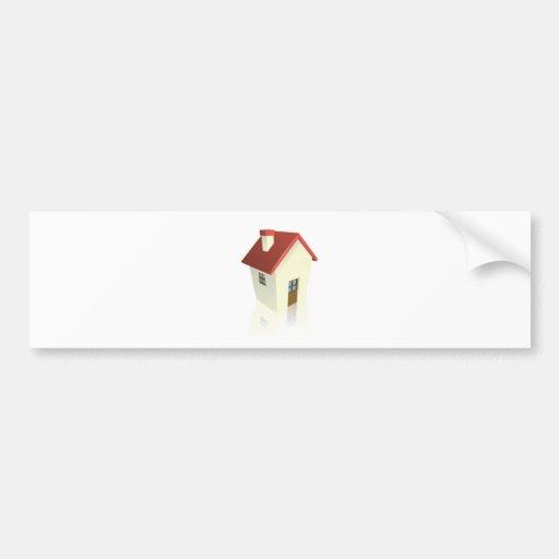 Cottage ou maison stylisé adhésifs pour voiture