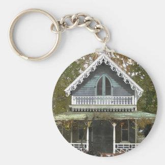 Cottage sur le Martha's Vineyard Porte-clé Rond