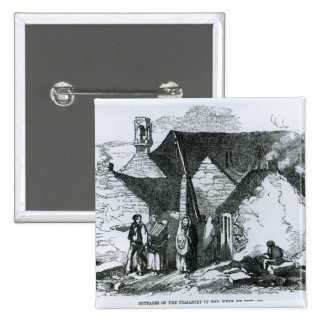 Cottages de la paysannerie dans l'ouest de l'Irlan Pin's